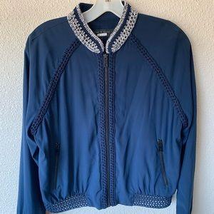 rag & bone jacket 100% silk crochet womens fullzip